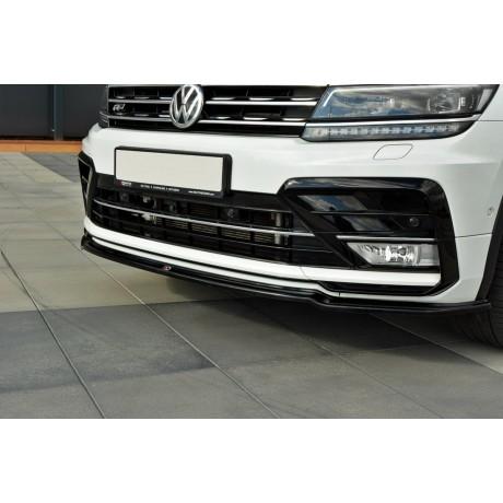 Maxton Design FRONT SPLITTER V 1 VW TIGUAN MK 2 R-LINE